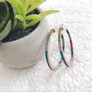 Lane Bryant rainbow hoop earrings